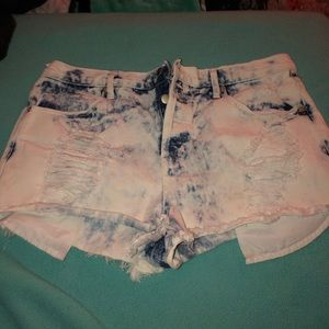 Forever 21 Denim Tie-dye shorts
